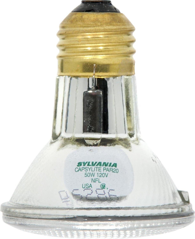 Sylvania 14502 50 Watt PAR20 Narrow Flood Light Bulb / 30 Degree Beam Spread / 120 Volt / 50PAR20 6-PACK