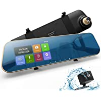 "$39 Get Mirror Dash Cam, DuDuBell 4.3"" Car Dash Camera Touch Screen 1080P 290° Wide Angle Backup…"