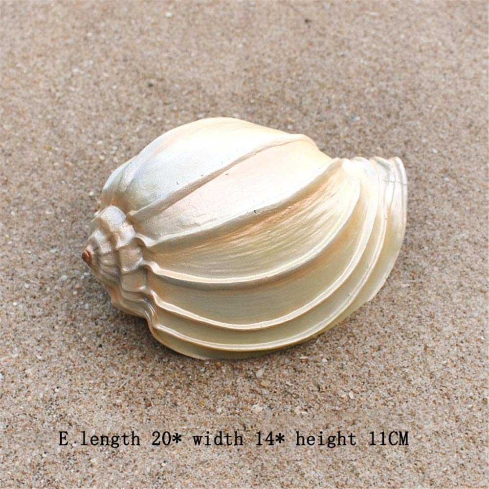 Crystalzhong-FP Garden Ornaments Shell Decor -for Outside Weatherproof (Color : Natural Color, Size : E)