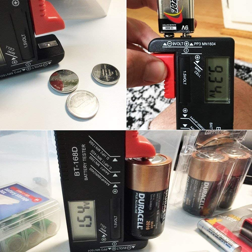Batteries Button Digital Battery Tester with Digital Display by ARTUROLUDWIG Universal Battery Tester AAA AA Battery Tester 1.5V 9V