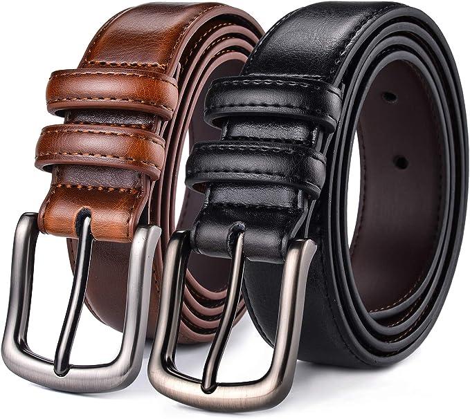 Amazon.com: Cinturón para hombre, Autolock de piel auténtica ...
