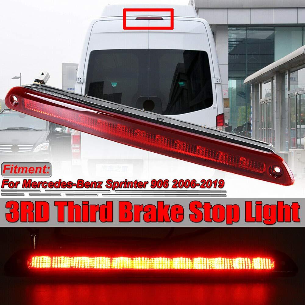 znwiem Tercera luz de Freno LED para Dodge Mercedes Sprinter W906 2006-2019 Tira de luz de Freno Alta para Puerta Trasera