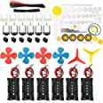 EUDAX 6 set Rectangular Mini Electric 1.5-3V 24000RPM DC Motor with 84 Pcs Plastic Gears,Electronic wire, 2 x AA Battery Hold