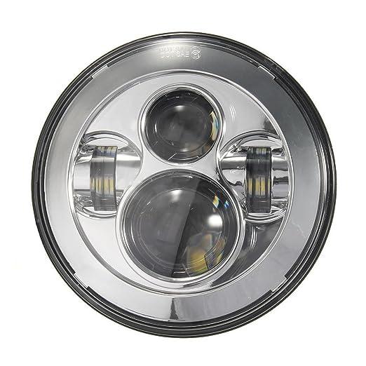 """2 opinioni per Faro per Moto LED Rotondo 7"""" 75 W Illuminazione a Giorno Impermeabile"""