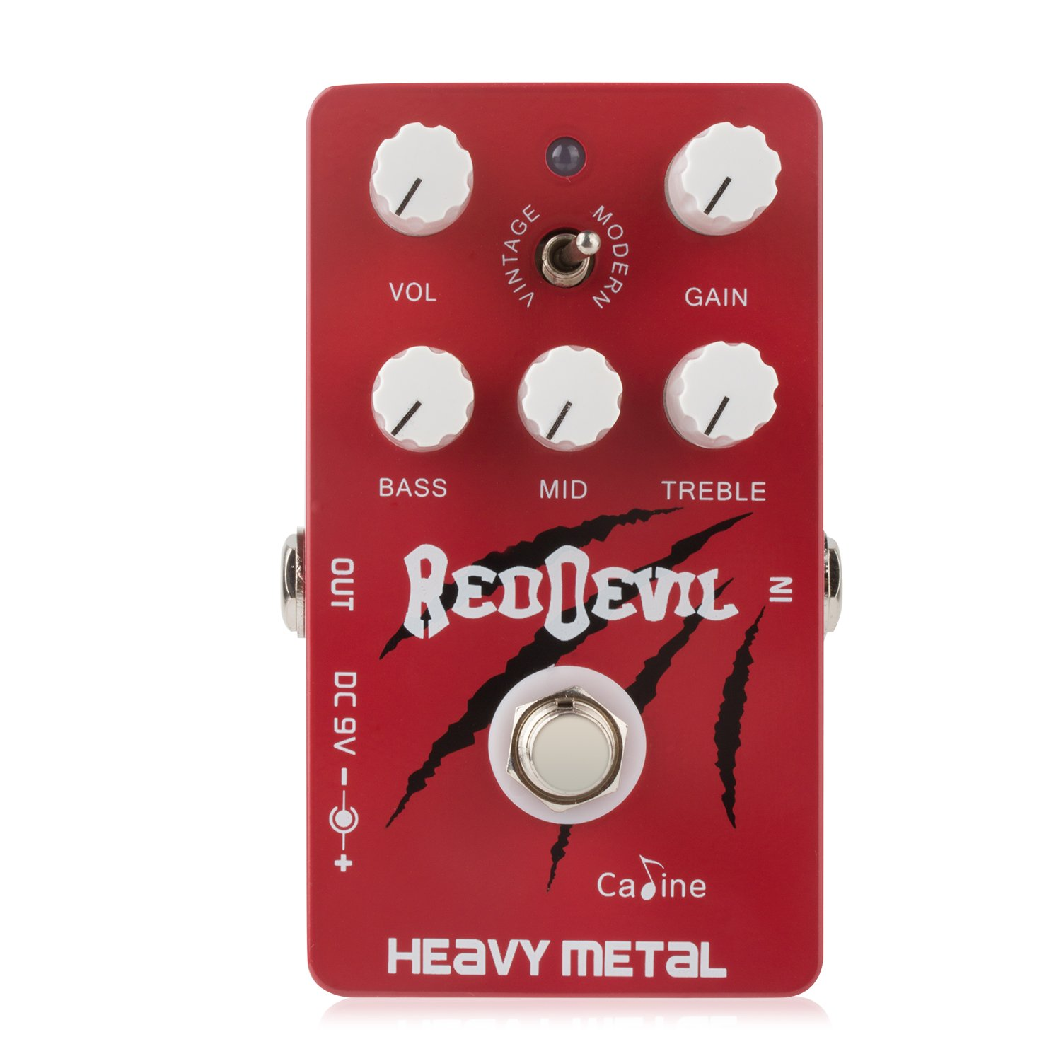 Caline Red Devil Heavy Metal Guitar Effect Pedal with Aluminum Alloy Housing True Bypass Giho