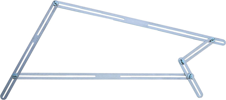 hedue T512 Winkelschablone mit 48 Aluschienen