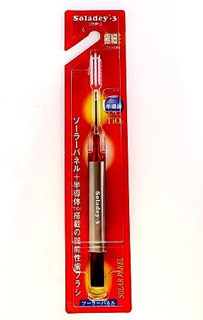 Soladey Soladey-3 Ionic - Cepillo de dientes solar con cerdas cónicas, color rojo: Amazon.es: Salud y cuidado personal