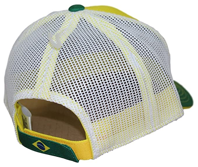 135c3711725 Amazon.com   Outerstuff Team Brazil World Cup Soccer Federation Jersey Hook  Structured Mesh Back Hat   Sports   Outdoors