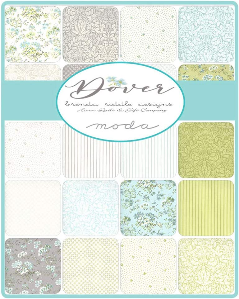 Moda Dover Charm Pack by Brenda Riddle Designs; 42-5 Inch Precut Fabric Quilt Squares