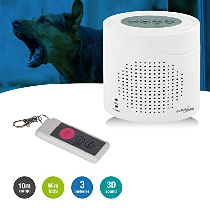 GreenBlue GB115 - Alarma inalámbrica con el Sonido del Perro ladrando, Sensor de Movimiento por