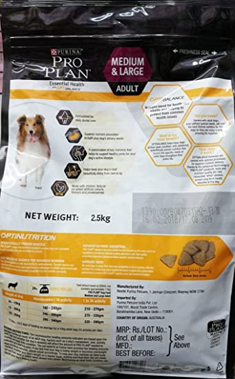 d05d5b035706e Buy Purina Pro Plan Adult Medium   Large Breed 2.5 kg Online at Low Prices  in India - Amazon.in