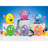 Easter Decorations pack of 6 Wind Up Dancing Crazy Eggs