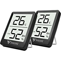 DOQAUS Thermometre/Hygromètre Intérieur, Hygrometre Interieur de Haute Précision, ℃/℉Commutable, pour Détecter humidité et la température, Indication du Niveau de Confort, Portable