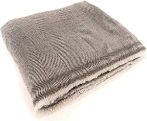 """Extra Soft Cashmere Wool Blanket/Throw - Made in Nepal Size 56"""" x 102"""""""