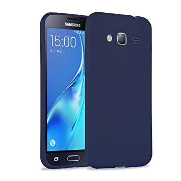 wholesale dealer 64d55 7b85e Galaxy J3 (2016) Case, JAMMYLIZARD Ultra Slim Silicone Jelly Rubber Back  Cover for Galaxy J3 (2016), Navy