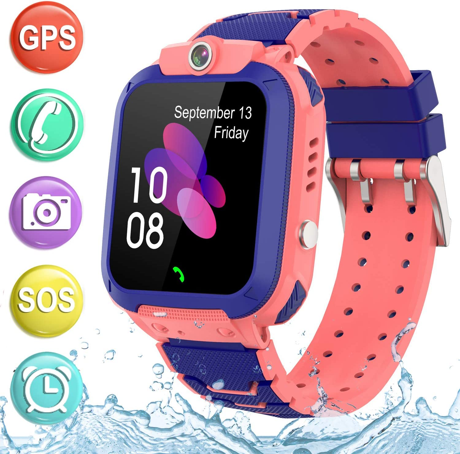 Kids Smartwatch GPS Tracker Phone - 2019 New Waterproof Children Smart Watches with 1.4