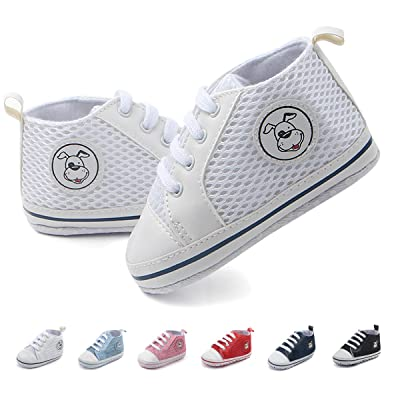 Antheron Infant Shoes - Baby Boys Girls Soft Sole Sneakers Toddler First Walkers Newborn Crib Shoes