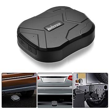 TKSTAR Rastreador de GPS con fuerte imán para coche/vehículo ...