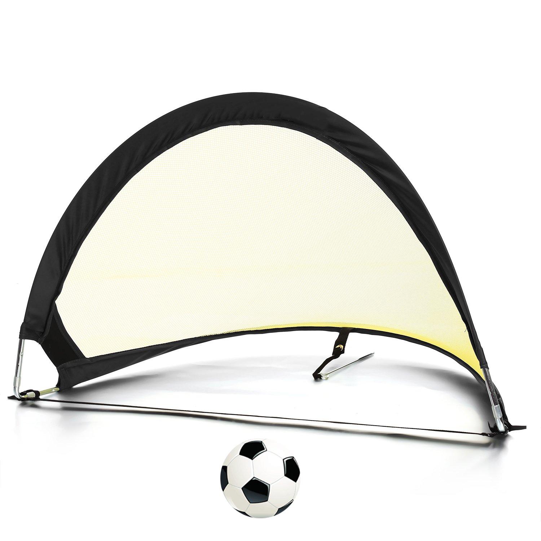 Pop Up Soccer Goalポータブルサッカーネット – サイズ2.5 '、4 ' 6 ' ( 2の目標+ 1 Carry Bag ) B07424VH7H 4 ft イエローブラック イエローブラック 4 ft