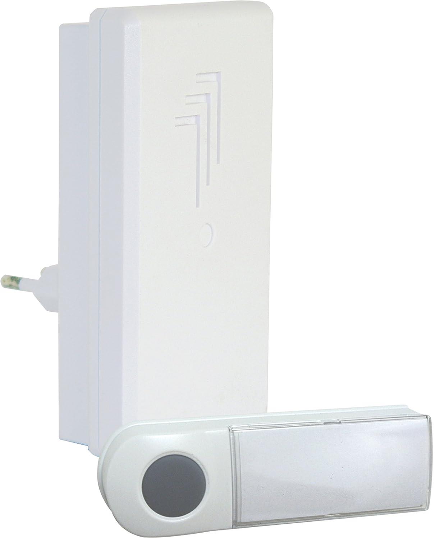 Kit de sonnette sans fil plug-in Byron DB411E – Portée de 50 m – Plug-in Eden