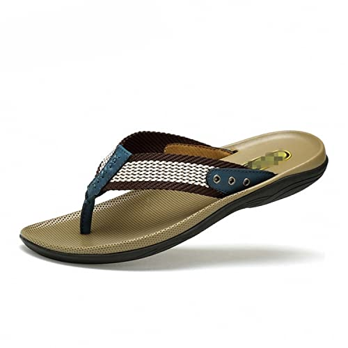 Botia Hombre Zapatillas de Cuero Genuino Chanclas Sandalias de Masaje de Playa Sandalias: Amazon.es: Zapatos y complementos