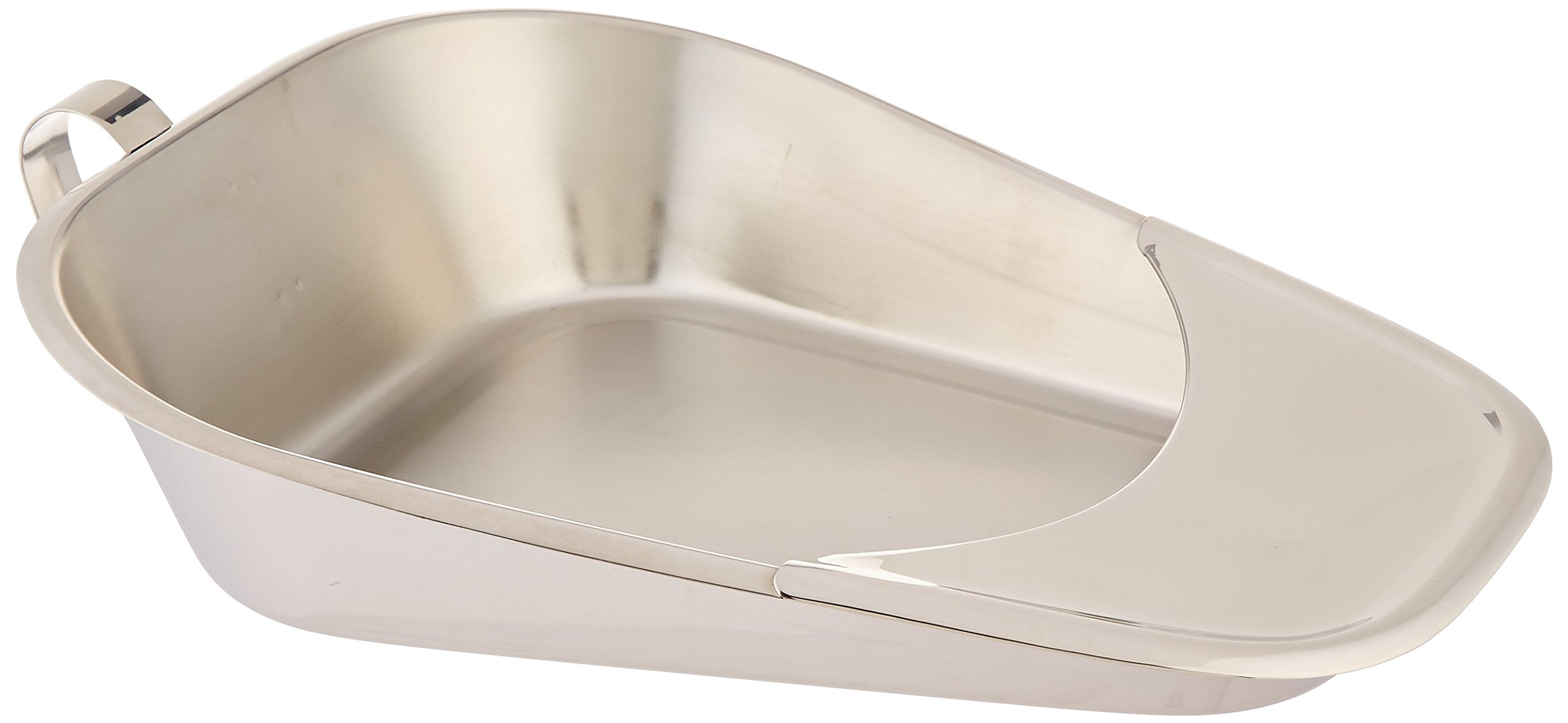Grafco 3229 Fracture Bed Pan, 3'' Front, 1'' Back, 12-1/2'' Length x 9-1/4'' Width