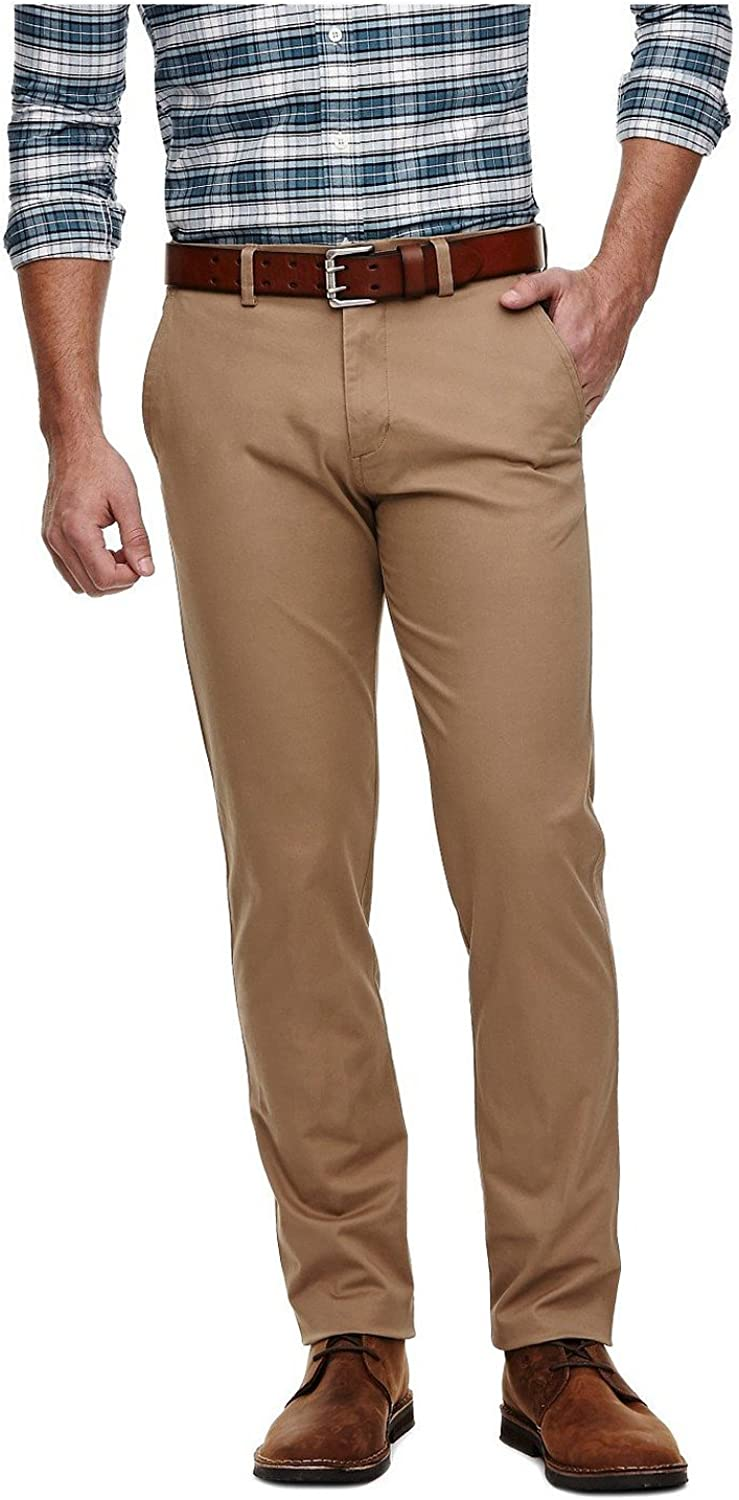 British Khaki 32X34 H26 Mens Slim Fit Stretch Premium Chino