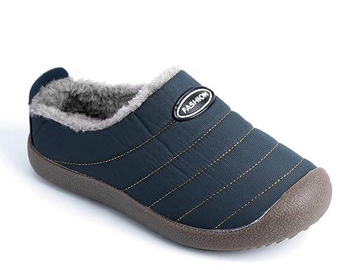Maxmuxun Mujer Invierno Zapatos de Casa con Forro de Piel con Suela Antideslizante para Exterior e Interior: Amazon.es: Zapatos y complementos