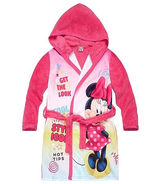 Disney Minnie Chicas Bata de baño con capucha Coral fleece - fucsia - 140: Amazon.es: Ropa y accesorios