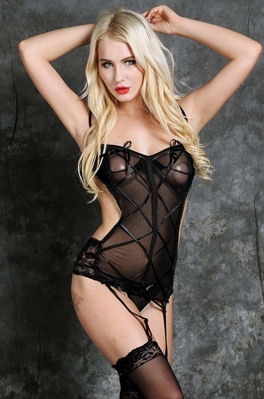 566a32cf2db FANEO Plus Size Corsets Hosiery Lingerie Garter Belt Undergarment Bras and  Panties Lingerie Dress Bra Shop Female Lingerie Baby Dolls at Amazon  Women s ...