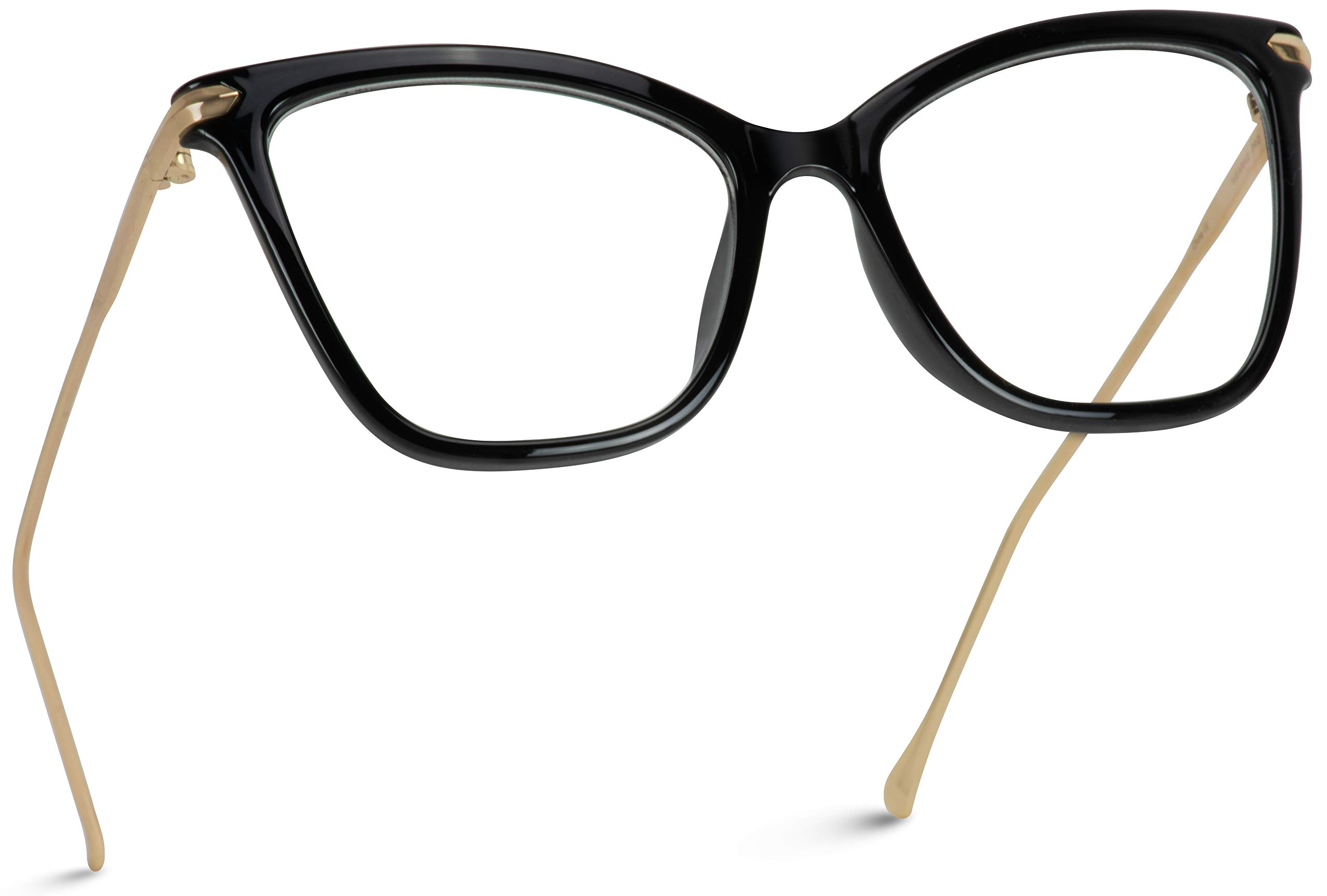 WearMe Pro - New Elegant Oversized Clear Cat Eye Non-Prescription Glasses by WearMe Pro