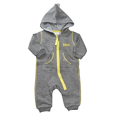 BABYTOWN Baby Boys Novelty Dinosaur Themed Zip Up All In One Jumpsuit