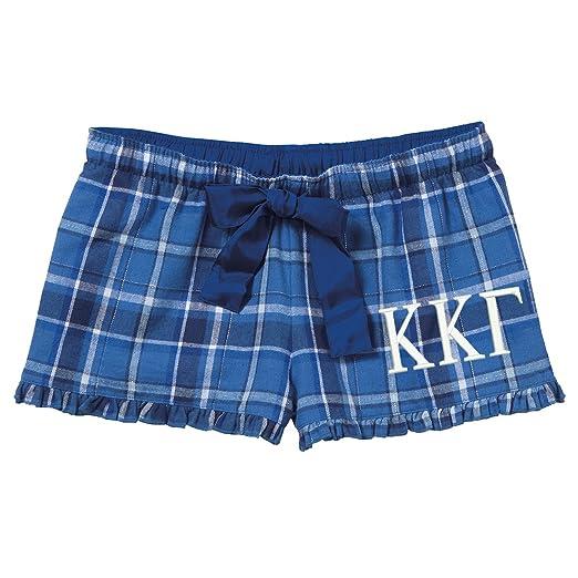 a27ec0f4d27 Cotton Sisters Kappa Kappa Gamma Plaid Flannel Boxer Shorts (XS 0 2