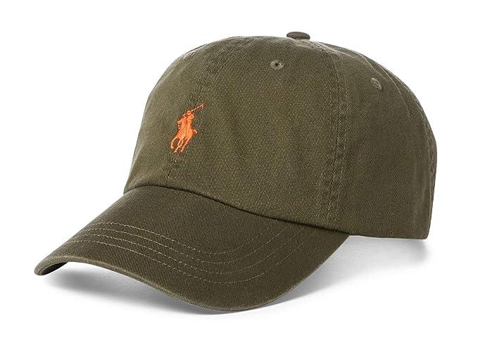 11864f6ad34 Polo Ralph Lauren Men`s Cotton Chino Baseball Cap (Green(5016) Orange