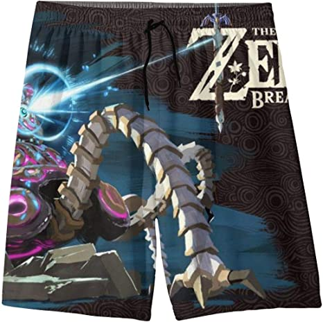 The Legend of Zel-da Boys Teens Cool Swimtrunks Quick Dry 3D Printed Casual Beach Boardshorts 7-20 Years Old