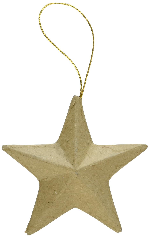 Darice Paper Mache Star Ornament-3' Notions - In Network 2809-10