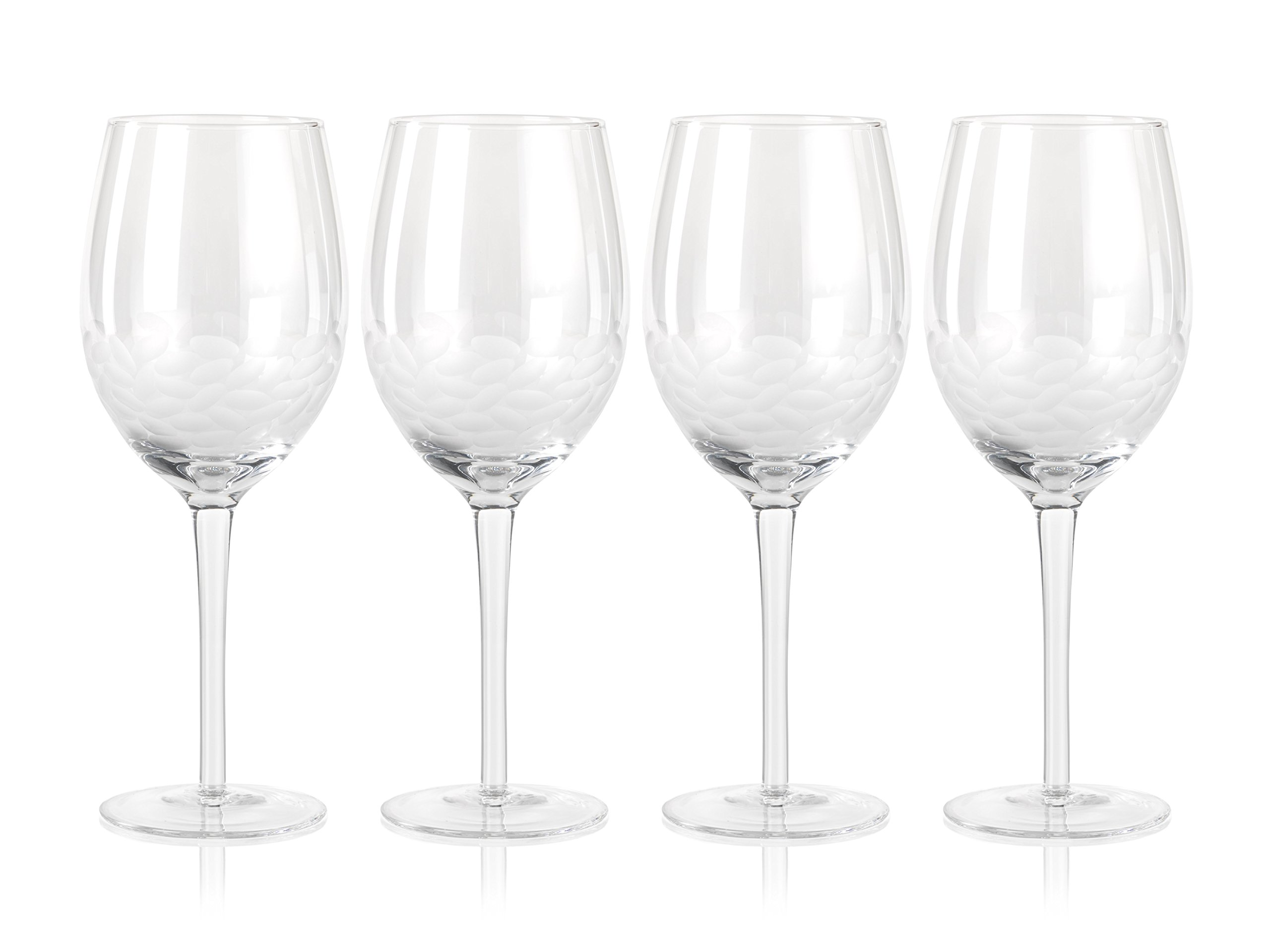 Zodax CH-4747 Villa 9'' Tall Red Wine Glasses (Set of 4), 4 Piece
