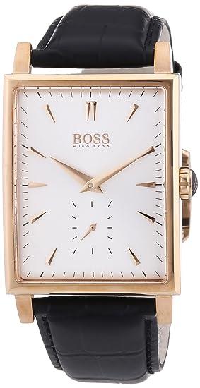 9066d4b81490 Hugo Boss 1512785 - Reloj analógico de cuarzo para hombre con correa de  piel