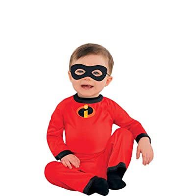 Party City The Incredibles Baby Jack-Jack Halloween Costume for Infants, Disney, 6-12 Months, Includes Mask: Clothing [5Bkhe0300882]