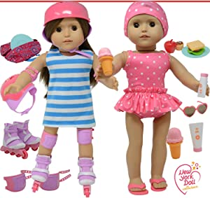 The New York Doll Collection Doll Roller Skates -18