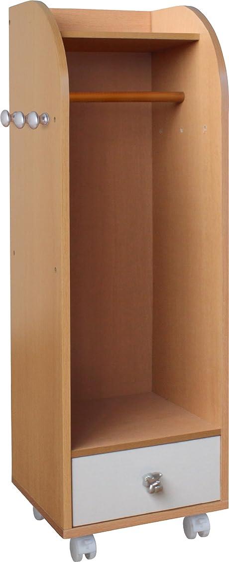 イースター飛ぶベーシックタンスのゲン 棚付き ハンガーラック 10段階高さ調節 キャスター付き 33600003 01