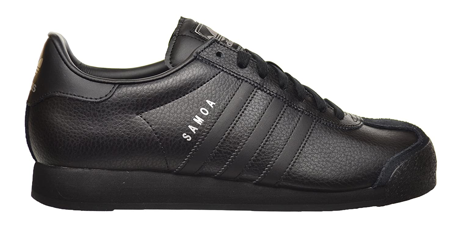 Amazon.com | Adidas Samoa Men's Shoes Black/Black/Metallic Silver g22596  (12.5 D(M) US) | Fashion Sneakers