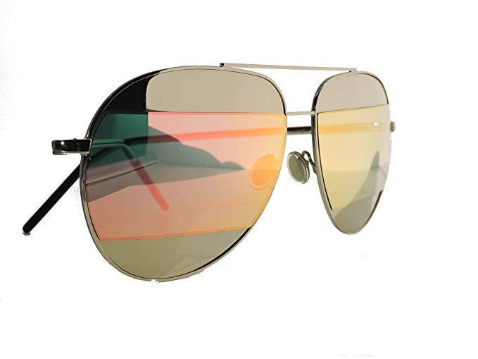 0423bd5fb7710 Image Unavailable. Image not available for. Colour  Christian Dior Split 1  Silver Pink 000J Sunglasses Mirrored Aviator