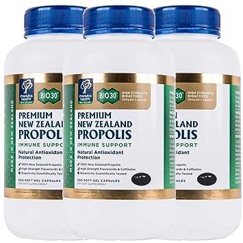 Amazon com: Manuka Health Bio30 Propolis 500mg 500 Capsules 100