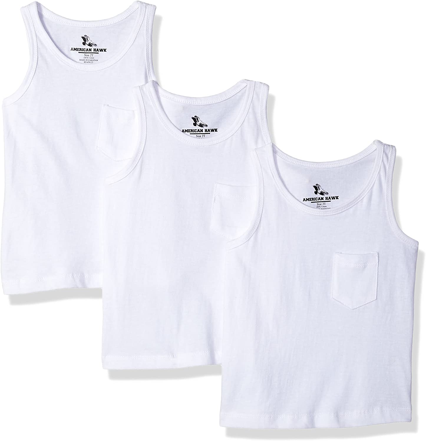 American Hawk Boys 3 Piece Pack Pocket Tank Top