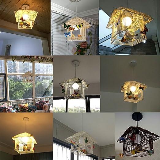 Amazon.com: Lámpara de techo de ratán para decoración de ...