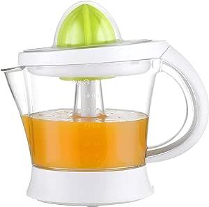 Exprimidor eléctrico de zumo Family Care, jarra libre de BPA con 1000ml, cantidad de pulpa ajustable, boquilla antigoteo, accesorios desmontables apto para lavavajillas, color blanco, potencia 40W: Amazon.es