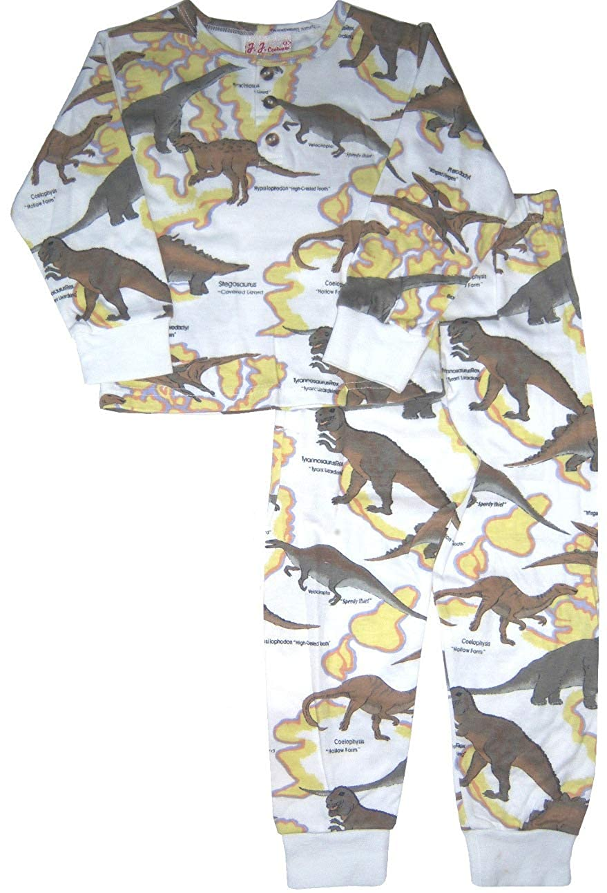 J.J 3T Coolwear Package of Dinosaur /& Coolbear Print Long Sleeve Pj Set Size:12m