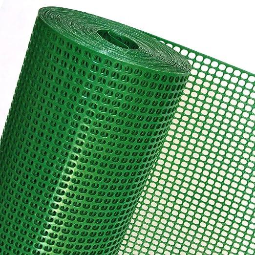 Valla sintética OP08/100 para obras, jardines, terrenos (1 m de altura, color verde, precio al metro): Amazon.es: Jardín