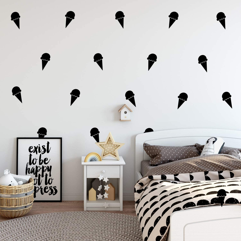 Set of 15 Vinyl Wall Art Decals - Ice Cream Cones - 6.3